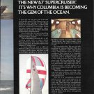1977 Columbia 8.7 Supercruiser Yacht 2 Page Color Ad- Nice Photos