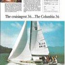 1970 Columbia 36 Yacht Color Ad- Nice Photo