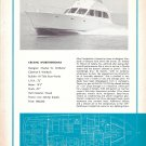 Old Hi- Tide Boat Works- Wittholz 52' Yacht Ad- Nice Photo- Boat Specs & Drawing
