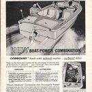 1961 Brunswick Larson Boat Ad- Nice Photo