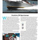 2021 Huckins 38 Sportsman Yacht Review- Boat Specs & Nice Photo