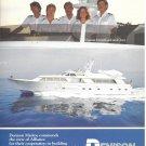 1986 Denison 104' Raised Bridge Motoryacht Color Ad- Nice Photo