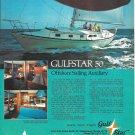 1975 Gulfstar 50 Yacht Color Ad- Nice Photo