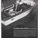 1965 Crestliner Boat Ad- Nice Photo- Hot Girl