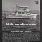 1972 American Marine LTD Grand Banks 42 Cruiser Boat Ad- Nice Photo