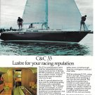 1975 C & C 33 Yacht Color Ad- Nice Photo