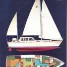 Old Gulfstar 54 Yacht Color Ad- Boat Specs & Nice Drawing
