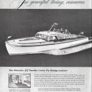 Old Wheeler Shipbuilding Corp Ad- Nice Drawing 46' Double Cabin