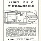 1966 Broadwater 27' Cruiser Boat Ad- Boat Specs & Drawing
