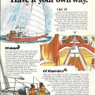 1976 C & C 24 Yacht Color Ad- Drawings