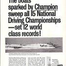 1968 Champion Spark Plugs Ad- Photo of APBA Boats Racing at Miami