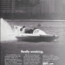 1971 Champion Spark Plugs Ad- Great Photo Hydroplane Atlas Van Lines-Bill Muncey