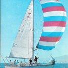 1970 Islander 37 Yacht 2 Page Color Ad- Nice Photo