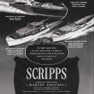 1948 Scripps Marine Engines Ad- Photo of Chris- Craft 25- 40 & 40 Boats