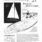 1948 Henry Hinckley 21' Sailboat Ad- Boat Specs & Drawings