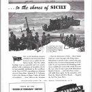 1943 WW II Richardson Boat Co Ad- Nice Photo LCVP Boat Landing at Sicily