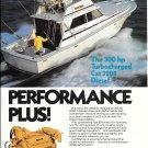 1981 Caterpillar 3208 300 HP Marine Engine Color Ad-Nice Photo Viking 35 Yacht