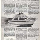 Old Uniflite 32' Sport Sedan Boat Ad- Nice Photo