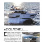2021 Absolute 50 Fly Yacht Review- Boat Specs & Nice Photos