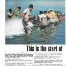 1967 Evinrude Outboard Motors 2 Page Color Ad- Nice Photo of Starfire 199- S
