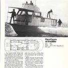 1971 Uniflite 36' Houseboat Ad- Boat Specs & Nice Photo