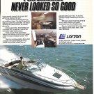 1984 Larson Delta Sportcruiser DC- 250 Boat Color Ad- Nice Photo