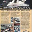1984 Tollycraft 30' Sport Cruiser Boat Color Ad- Nice Photos