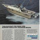 1985 Pursuit 2700 Open & Bayliner 2750 Ciera 2 Pg Double Boat Ad- Nice Photos