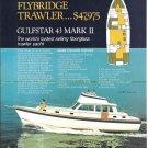 1972 Gulfstar 43 Mark II Trawler Boat Color Ad- Boat Specs & Nice Photo