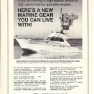 1972 Twin Disc Ad- Nice Photo of Post 40' Yacht