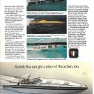 Old Wellcraft Scarab 38' Boat Color Ad- Nice Photo