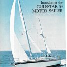 1974 Gulfstar 53 Motor Sailer Yacht 2 Page Color Ad- Boat Specs & Nice Photos