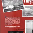 1942 WW II GM Diesel 2 Page Ad- Great Photos of U S Coast Guard War Boats
