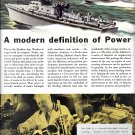 1942 WW II Sterling Engine Color Ad- Nice Drawing of War Boats