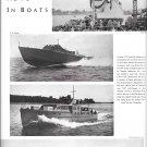 1942 WW II War Boats Ad- Nice Photos Chris- Craft- Luders Marine