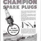 1942 WW II Champion Spark Plugs Ad- Drawing of Coast Guard Reserve War Boats