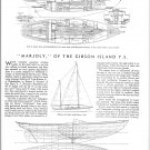 """1942 Frederick C Geiger 46' Yacht """"Marjoly"""" Ad- Drawings"""