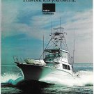 1976 AMF Hatteras 53 Convertible Yacht Color Ad- Nice Photo