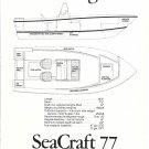 1977 SeaCraft Master Angler 20 Boat Ad- Boat Specs & Drawings