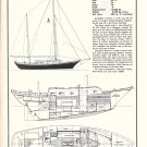1970 Cheoy Lee Clipper 33 Yacht Ad- Boat Specs & Drawings