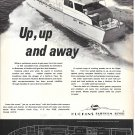 1970 Huckins Offshore 65 Yacht Ad- Nice Photo & Drawing
