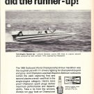 1970 Champion Spark Plugs 2 Pg Ad- Nice Photos of 3 Hydroplanes