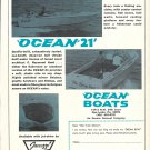 1970 Ocean Boats Ad- Photo of Ocean 21 With Jacuzzi Jet- Drive