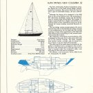 1975 Columbia 32 Yacht Ad- Boat Specs & Drawings
