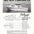 1969 Super- Craft Phantom 24 Deep Vee Boat Ad- Nice Photo
