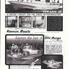 1969 Kenner Boat Co Ad- Nice Photo Suwanee 47 & Ski Barge