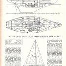 1965 Ted Hood Naugus 30 Sloop Ad- Boat Specs & Drawings