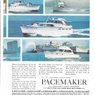1965 Pacemaker Yachts 2 Page Color Ad- Photos of 10 Models