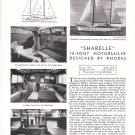 "1963 Kok Shipyard- Philip Rhodes 70' Motorsailer ""Sharelle"" Ad- Boat Specs & Photos"