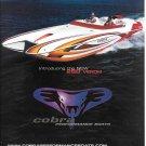 2003 Cobra 260 Venom Performance Boat Color Ad- Great Photo